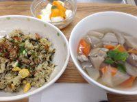 290123⑳高菜チャーハン&根菜スープ