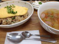 290217⑳ふんわり卵乗せご飯&野菜スープ