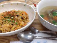 290215⑳キムチ飯&根菜スープ