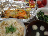 290203⑳鮭ホイル焼き&筍ご飯