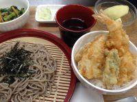 290329⑳ざる蕎麦&ミニ天丼