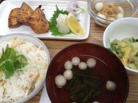 29041320筍ご飯&魚の竜田揚げ